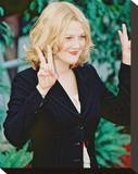 Drew Barrymore Stretched Canvas Print