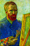 Vincent Van Gogh Self-Portrait in Front Easel Posters