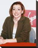 Alyson Hannigan Stretched Canvas Print