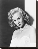 Virginia Mayo Stretched Canvas Print