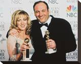 James Gandolfini & Edie Falco Stretched Canvas Print