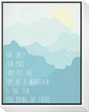 Zen 2 Framed Print Mount by Rebecca Peragine