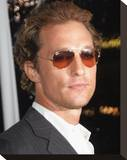 Matthew Mcconaughey Stretched Canvas Print