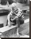 May Britt Stretched Canvas Print