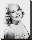 Sonja Henie Stretched Canvas Print