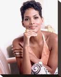 Halle Berry Stretched Canvas Print