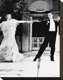 Fred Astaire & Ginger Rogers Stretched Canvas Print