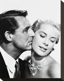 Cary Grant & Grace Kelly Stretched Canvas Print
