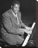 Oscar Peterson Stretched Canvas Print