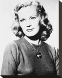 June Haver Stretched Canvas Print
