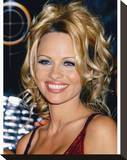Pamela Anderson Stretched Canvas Print