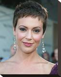 Alyssa Milano Stretched Canvas Print