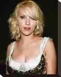 Scarlett Johansson Stretched Canvas Print