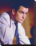 Charlie Sheen Stretched Canvas Print