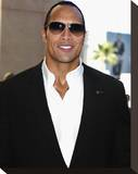 Dwayne Johnson Stretched Canvas Print