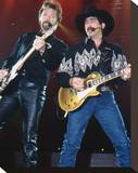 Brooks & Dunn Stretched Canvas Print