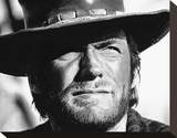 Clint Eastwood Stretched Canvas Print