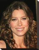 Jessica Biel Stretched Canvas Print