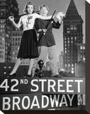 Babes on Broadway Stretched Canvas Print