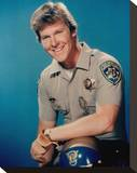Larry Wilcox - CHiPs Stretched Canvas Print