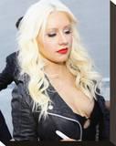 Christina Aguilera Stretched Canvas Print