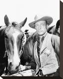 Russell Johnson - Black Saddle Stretched Canvas Print