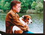 Frankie Muniz - My Dog Skip Stretched Canvas Print