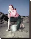 Amanda Blake - Gunsmoke Stretched Canvas Print