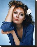 Susan Sarandon Stretched Canvas Print