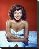 Rita Hayworth Stretched Canvas Print