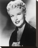 Ginger Rogers - Black Widow Stretched Canvas Print
