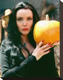 Carolyn Jones - The Addams Family Stretched Canvas Print
