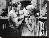 Marlon Brando & Kim Hunter Stretched Canvas Print