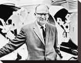 Arthur C. Clarke Stretched Canvas Print