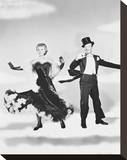 Fred Astaire & Vera-Ellen Stretched Canvas Print