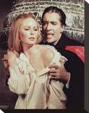Christopher Lee & Veronica Carlson Stretched Canvas Print