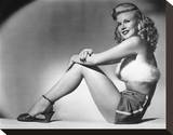 Ginger Rogers - Heartbeat Stretched Canvas Print