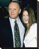 Anthony Hopkins & Julianne Moore Stretched Canvas Print