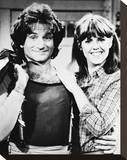 Mork & Mindy Stretched Canvas Print
