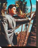 Jack Lord, Hawaii Five-O Stretched Canvas Print