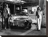 Michael Caine, The Italian Job (1969) Stretched Canvas Print