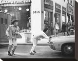 Midnight Cowboy Stretched Canvas Print