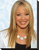 Hilary Duff Stretched Canvas Print