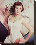 Jean Peters Stretched Canvas Print