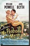 Mr. Peabody and the Mermaid Stretched Canvas Print