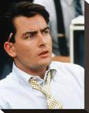 Charlie Sheen, Wall Street (1987) Stretched Canvas Print