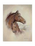Race Horse II Premium Giclée-tryk af Ruane Manning