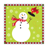 Snowman I Premium Giclee Print by Donna Slade