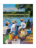 Fishing II Giclee Print by Jane Slivka