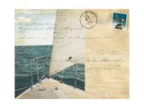 Voyage Postcard I Giclee Print by Susan Bryant